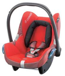 Maxi-Cosi CabrioFix Red flame reflection